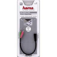 Hama audio 2× 3,5 mm jack – 3,5 mm jack 4-pól - Redukcia