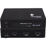 PremiumCord externý HDMI Splitter, 2x port HDMI 1,4 čierny - Rozbočovač