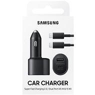Samsung Duálna autonabíjačka s podporou ultra rýchleho nabíjania 45 W a dvoma konektormi USB-C a USB-A - Nabíjačka do auta