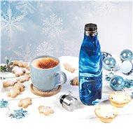 CAMBRIDGE BLUE MARBLE 500 ml FLASK BOTTLE - Termoska
