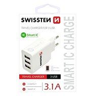 Swissten sieťový adaptér SMART IC 3× USB  3.1A - Nabíjačka do siete