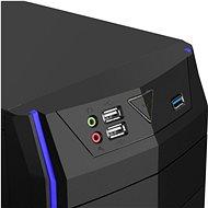 EVOLVEO R04 čierna/modrá - PC skrinka