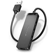 Vention 4-Port USB 2.0 Hub with Power Supply 1 m Black - USB Hub