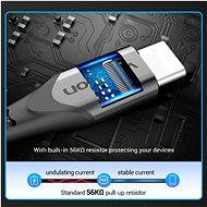 Vention Type-C (USB-C) <-> USB 2.0 Cable 3A Gray 2 m Aluminum Alloy Type - Dátový kábel