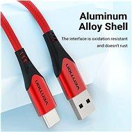 Vention Type-C (USB-C) <-> USB 2.0 Cable 3A Red 1 m Aluminum Alloy Type - Dátový kábel