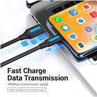 Vention Type-C (USB-C) <-> USB 2.0 Charge & Data Cable 0,25 m Black - Dátový kábel