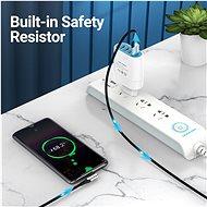 Vention Reversible 90° USB 2.0 -> microUSB Cotton Cable Gray 0.5 m Aluminium Alloy Type - Dátový kábel