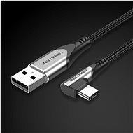 Vention Type-C (USB-C) 90° <-> USB 2.0 Cotton Cable Gray 1.5 m Aluminum Alloy Type - Dátový kábel