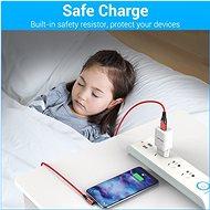 Vention Type-C (USB-C) 90° <-> USB 2.0 Cotton Cable Red 1 m Aluminum Alloy Type - Dátový kábel