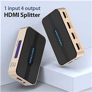 Vention 1 In 4 Out HDMI Splitter Black - Rozbočovač