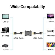 Vention HDMI Female to Female Coupler Adapter Black - Káblová spojka