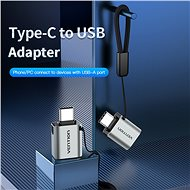 Vention USB-C (M) to USB 3.0 (F) OTG Adaptér Gray Aluminum Alloy Type - Redukcia
