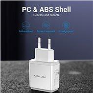 Vention Smart 3-Port USB Wall Charger 17W (3× 2.4A) White - Nabíjačka do siete