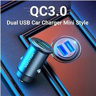 Vention Rapid 2-Port Car Charger (2× QC3.0) 25 W Gray Mini Style Aluminium Alloy Type - Nabíjačka do auta