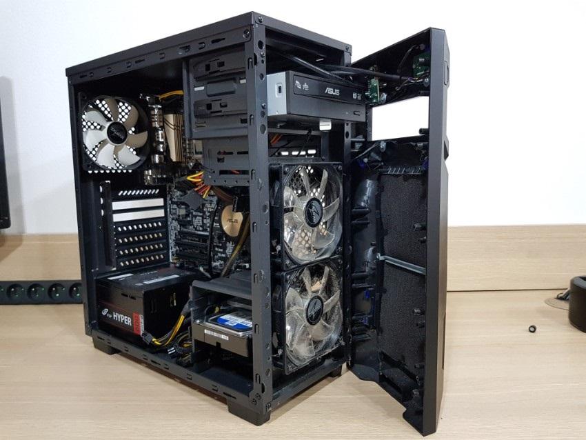 čistenie prednej časti PC
