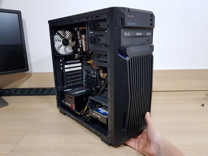 Demontáž prednej časti PC