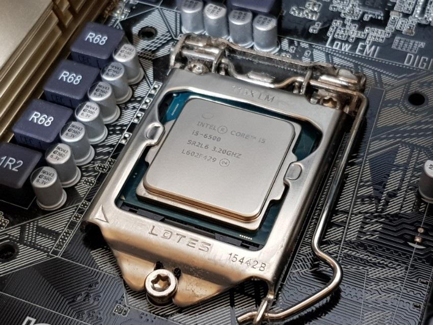 Ideálny výsledok čistenia povrchu CPU