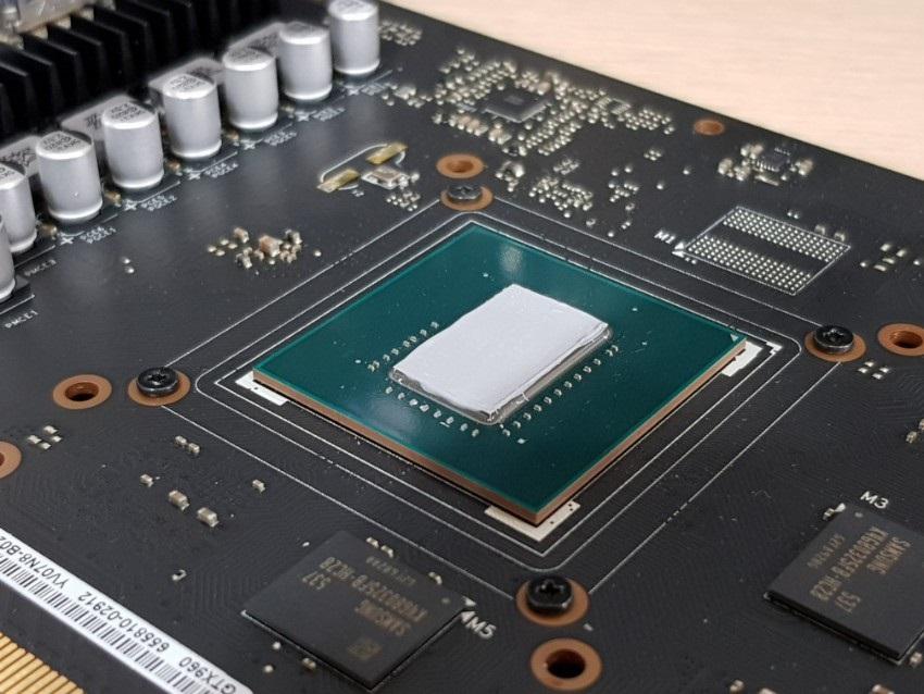 GPU, nanesenie novej pasty