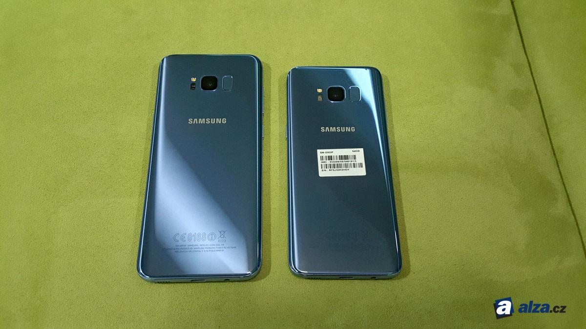 Samsung Galaxy S8 a S8+, zadná strana