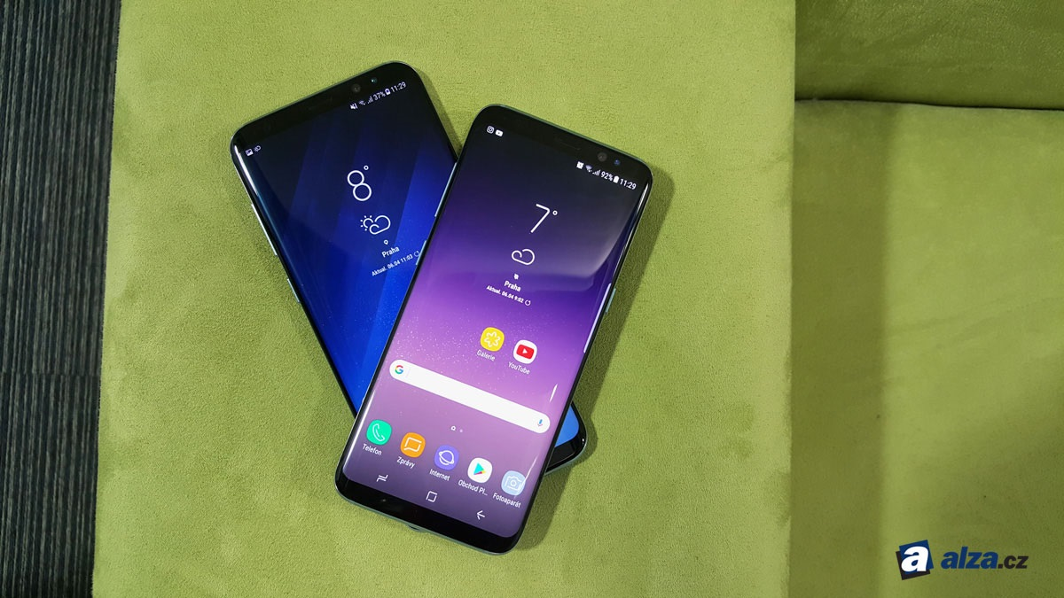 Samsung Galaxy S8 a S8+, displej