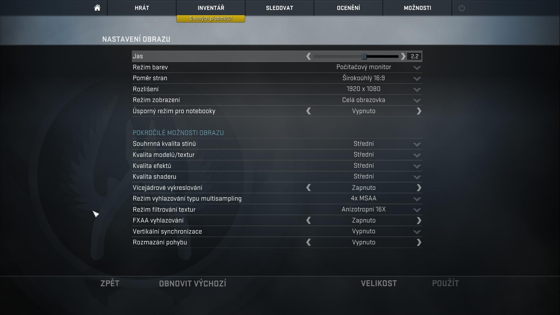 Counter Strike; nastavenie hry; AMD Raven Ridge