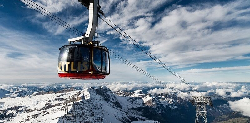 Lanovka v Alpách