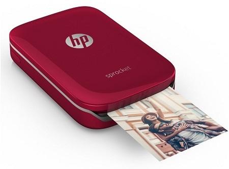 HP Sprocket; mobilná tlačiareň; červená