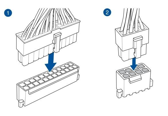 Ako zostaviť PC. Ako pripojiť napájací zdroj k základnej doske počítača