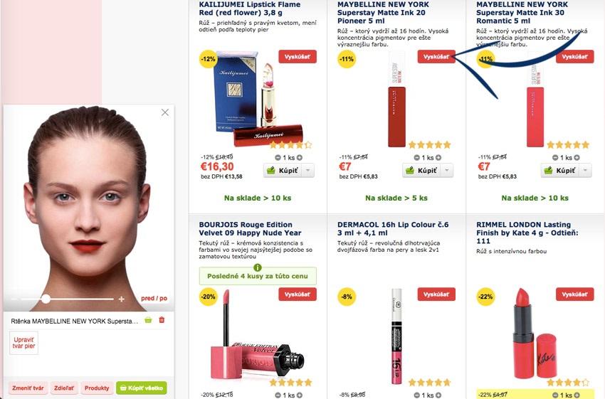 Výber produktov