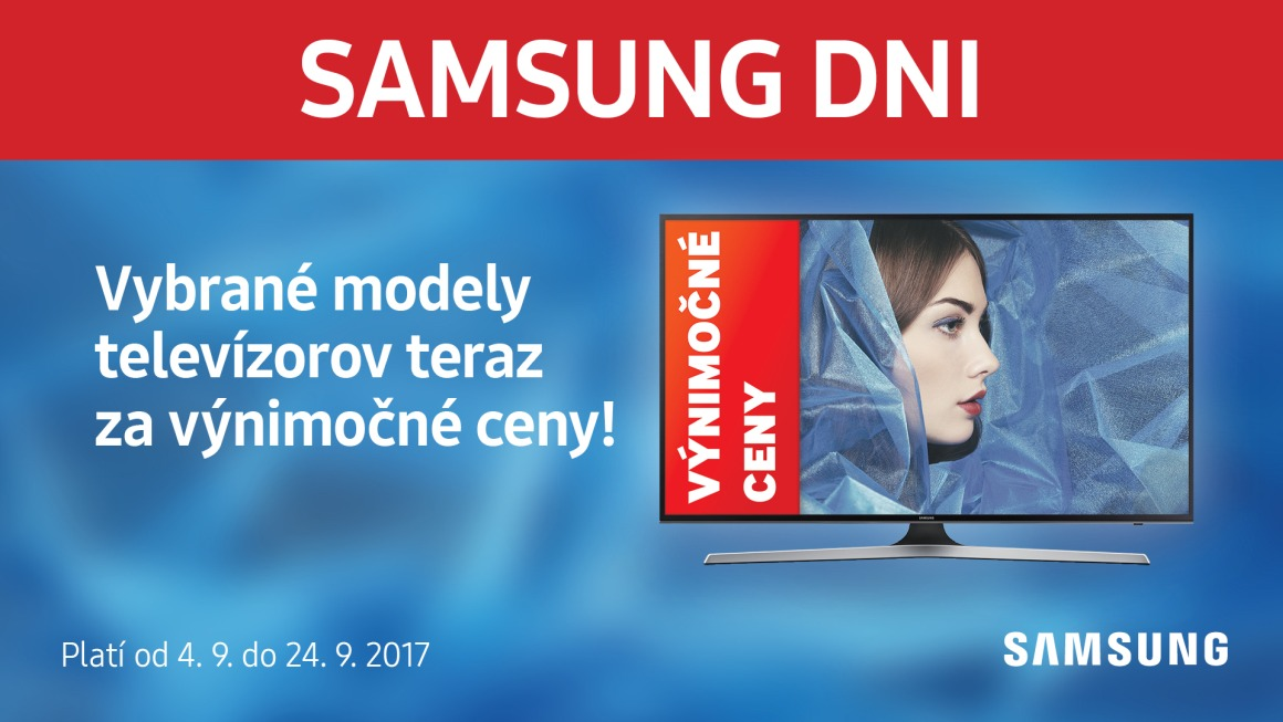 6e5639606 Samsung Days 2017: televízory zľavnené o niekoľko tisíc eur | Alza.sk