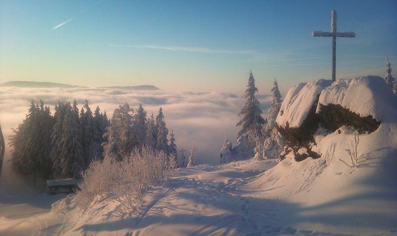 Šumava má v zime úžasnú atmosféru