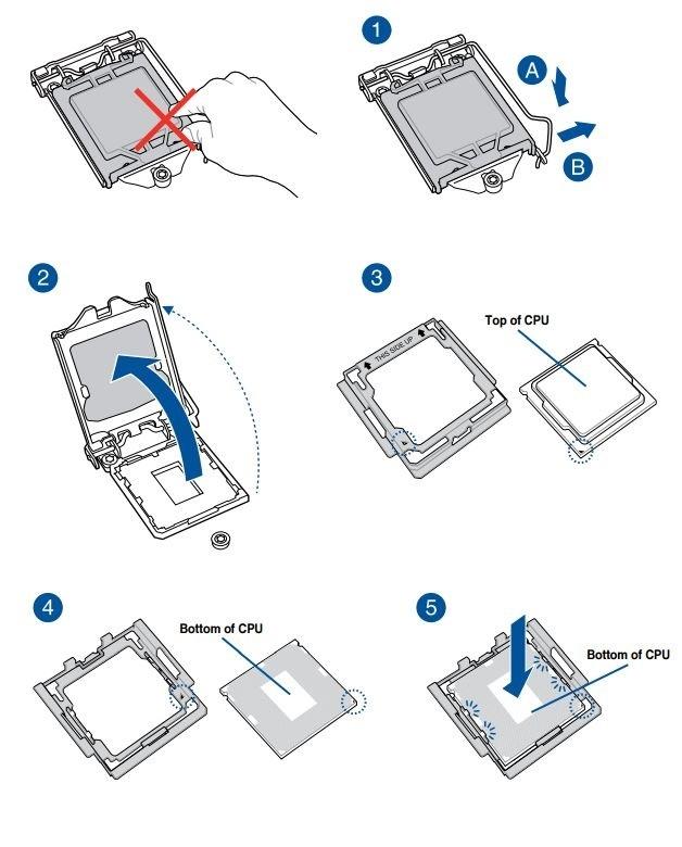 Ako zostaviť PC. Umiestnenie procesora Intel do pätice základnej dosky