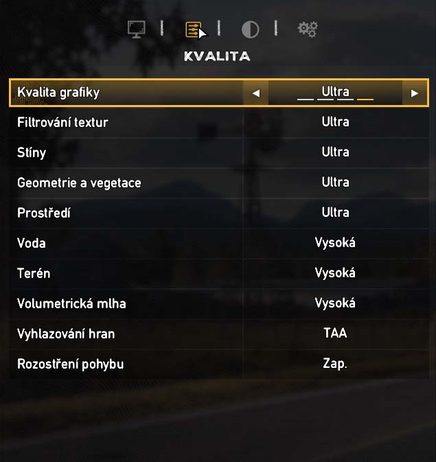 Far Cry 5 nastavení kvality