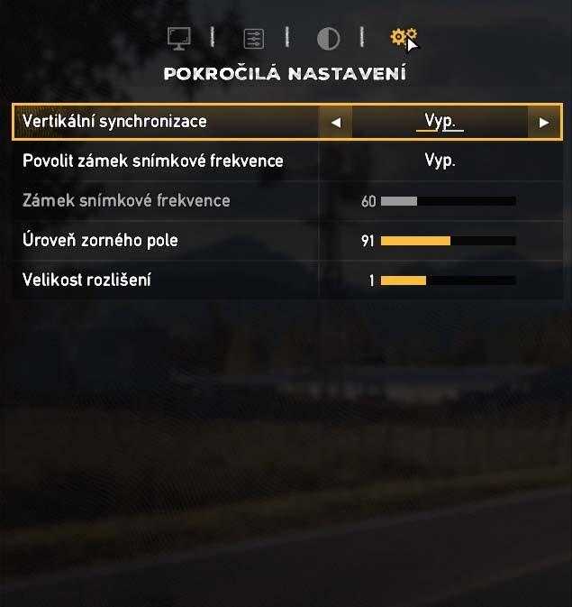 Far Cry 5 pokročilá nastavení