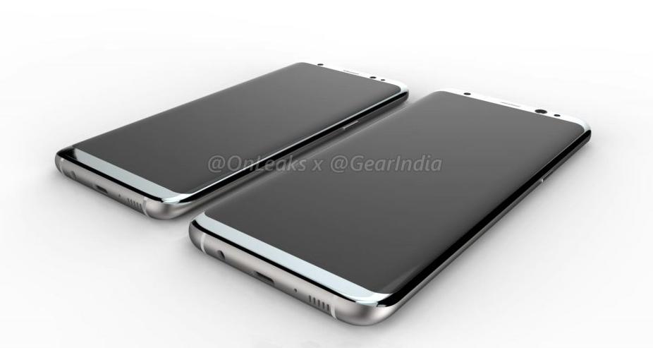 Samsung Galaxy S8, čelná strana