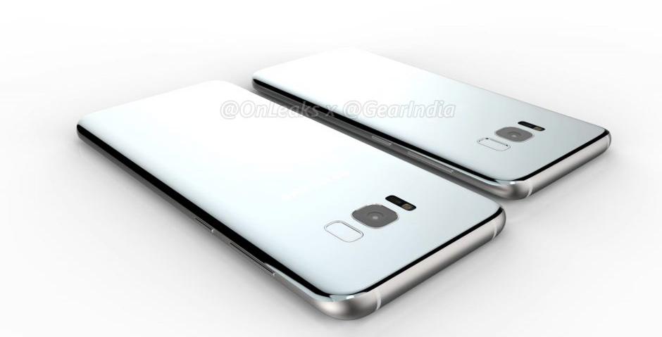 Samsung Galaxy S8, zadná strana