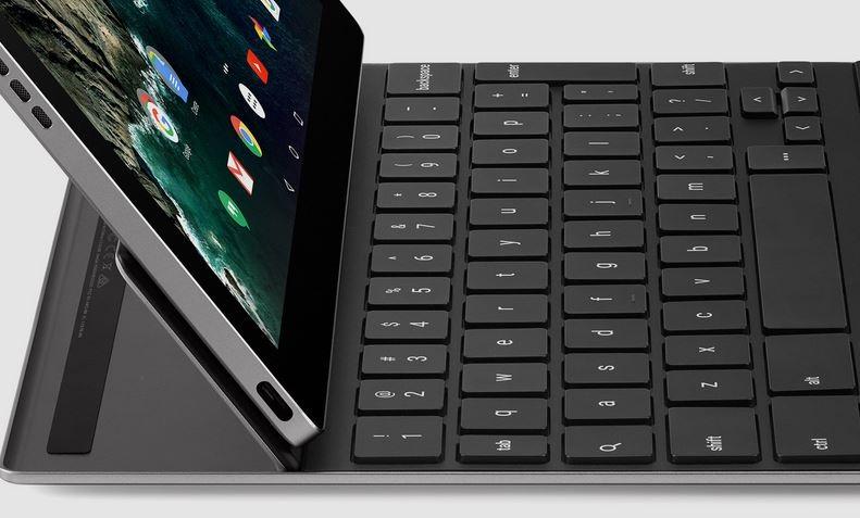 Google Pixel C; klávesnica, výklopná plôška