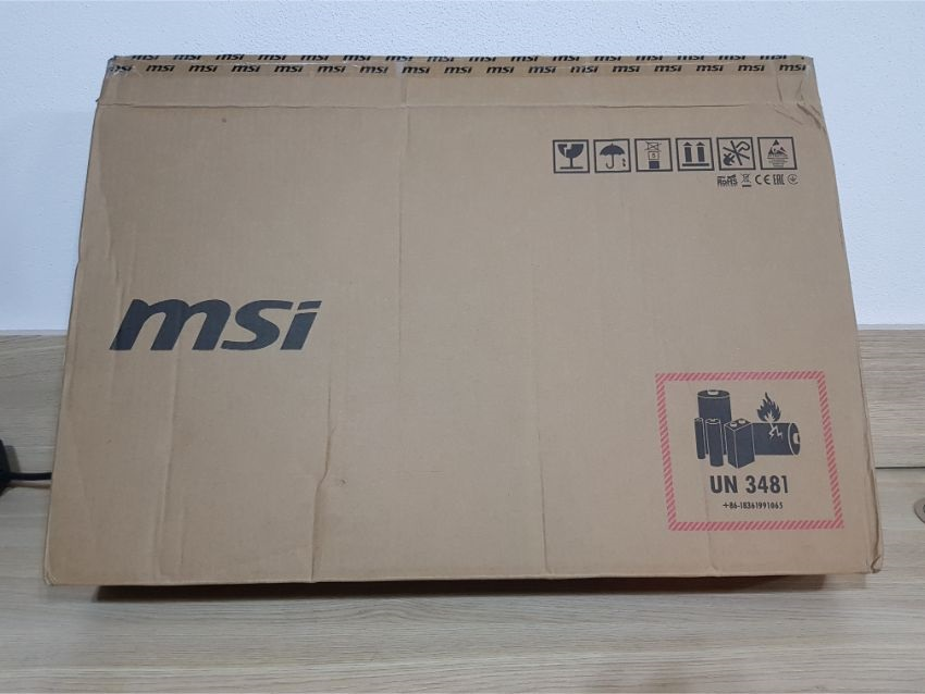MSI GS75 Stealth 9SG – Transportné balenie