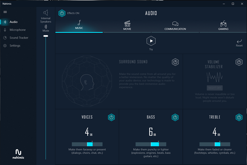 MSI GS75 Stealth 9SG; Audio; softver