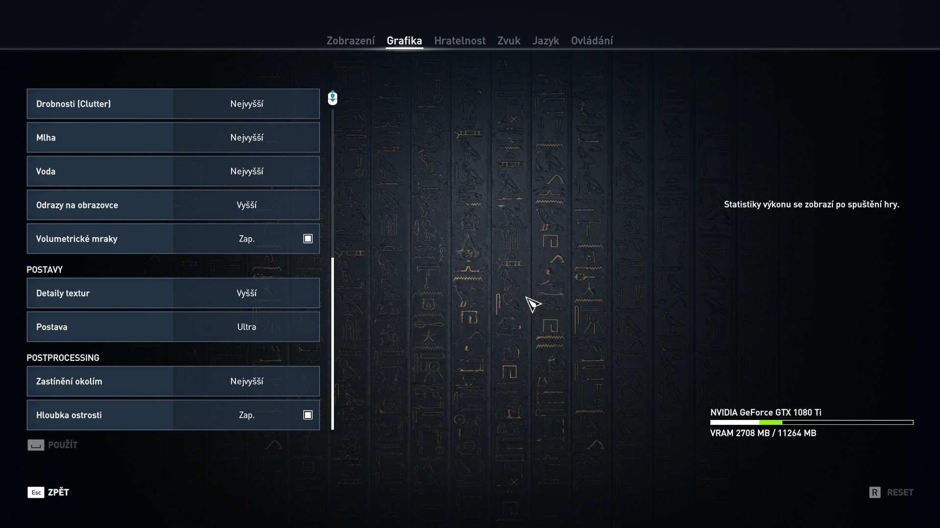 Assasin's Creed: Origins nastavení detailů
