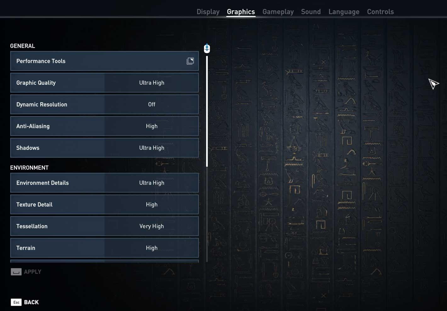 Assassin's Creed: Origins nastavení pokročilé 1