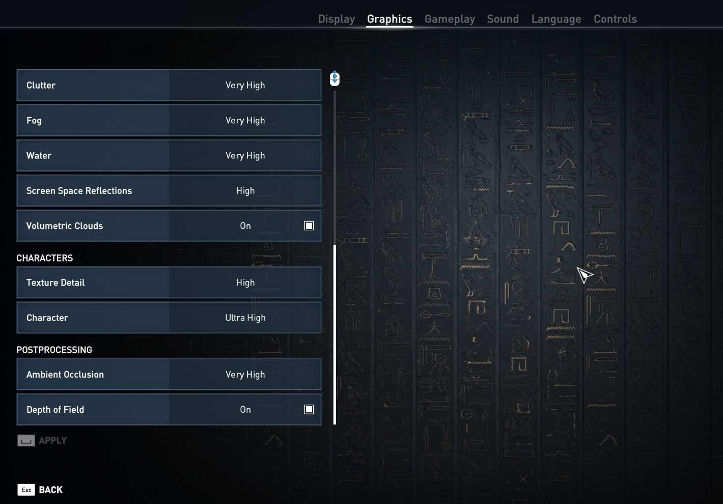 Assassin's Creed: Origins nastavení pokročilé 2
