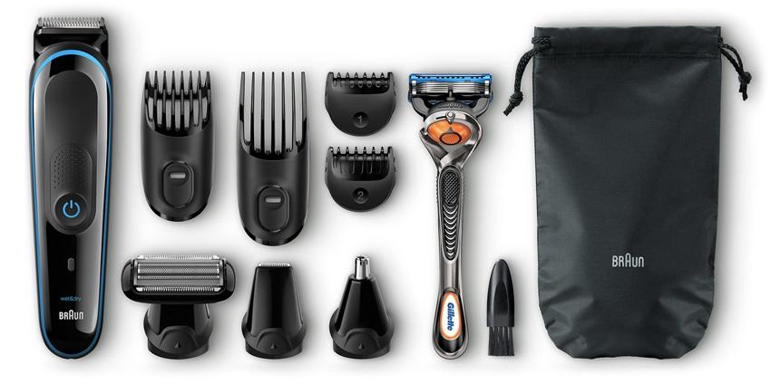 Multifunkčný zastrihávač vlasov a fúzov Braun MGK 3080
