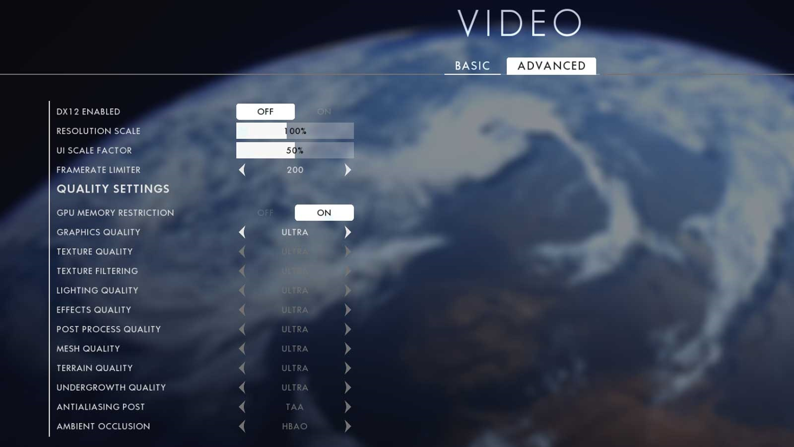Battlefield 1 nastavenie 2