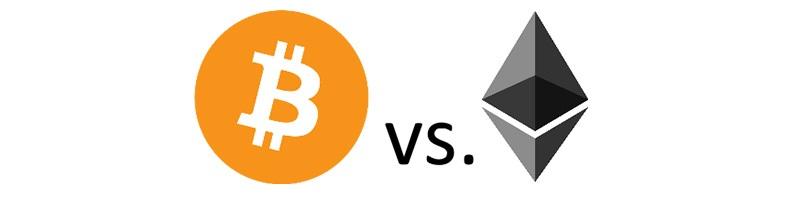 Ethereum verzus bitcoin