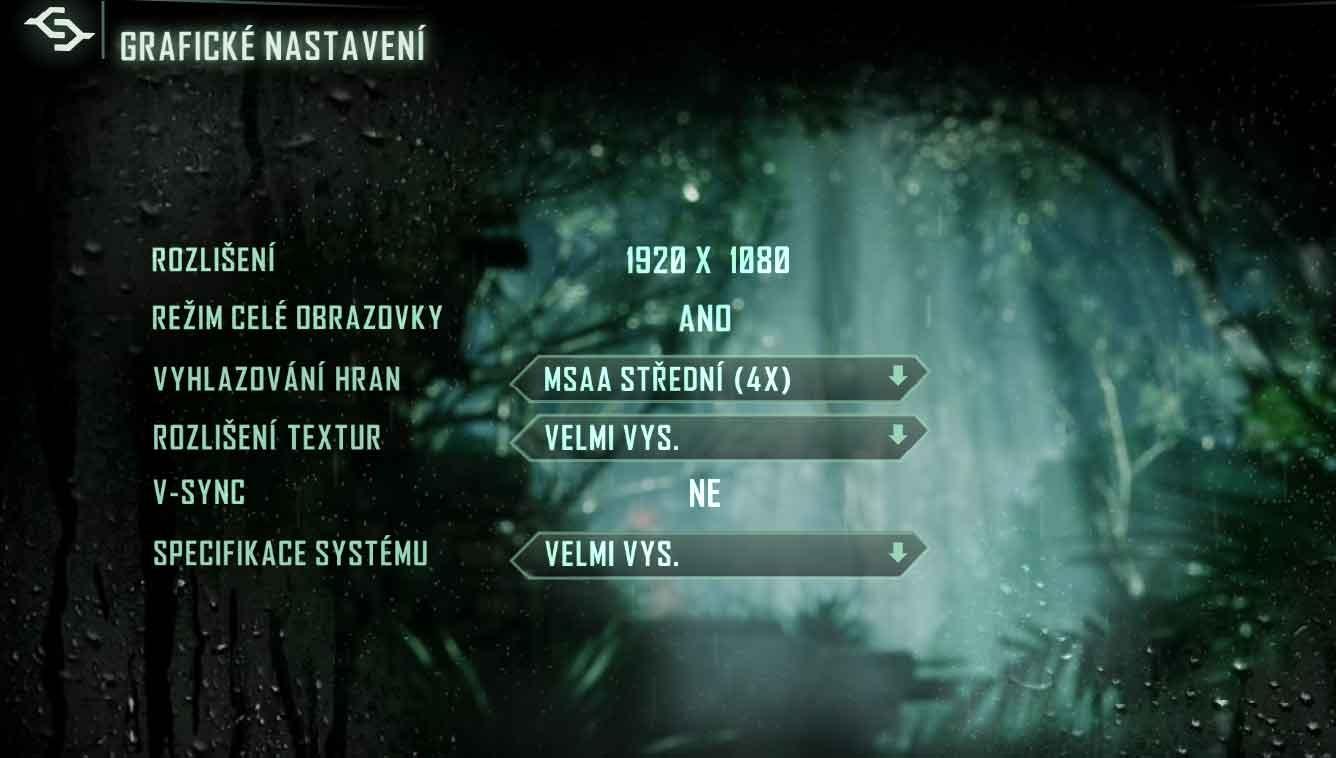 Crysis 3 nastavenia grafiky