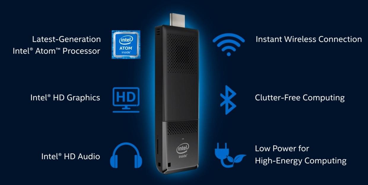 Výbava Intel Compute Sticku