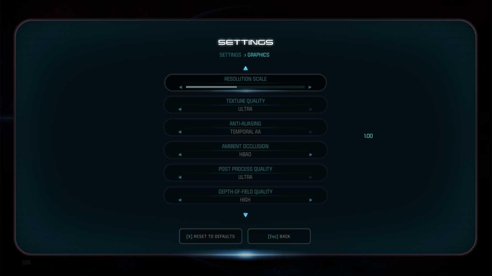 Mass Effect: Abdromeda nastavenie 3