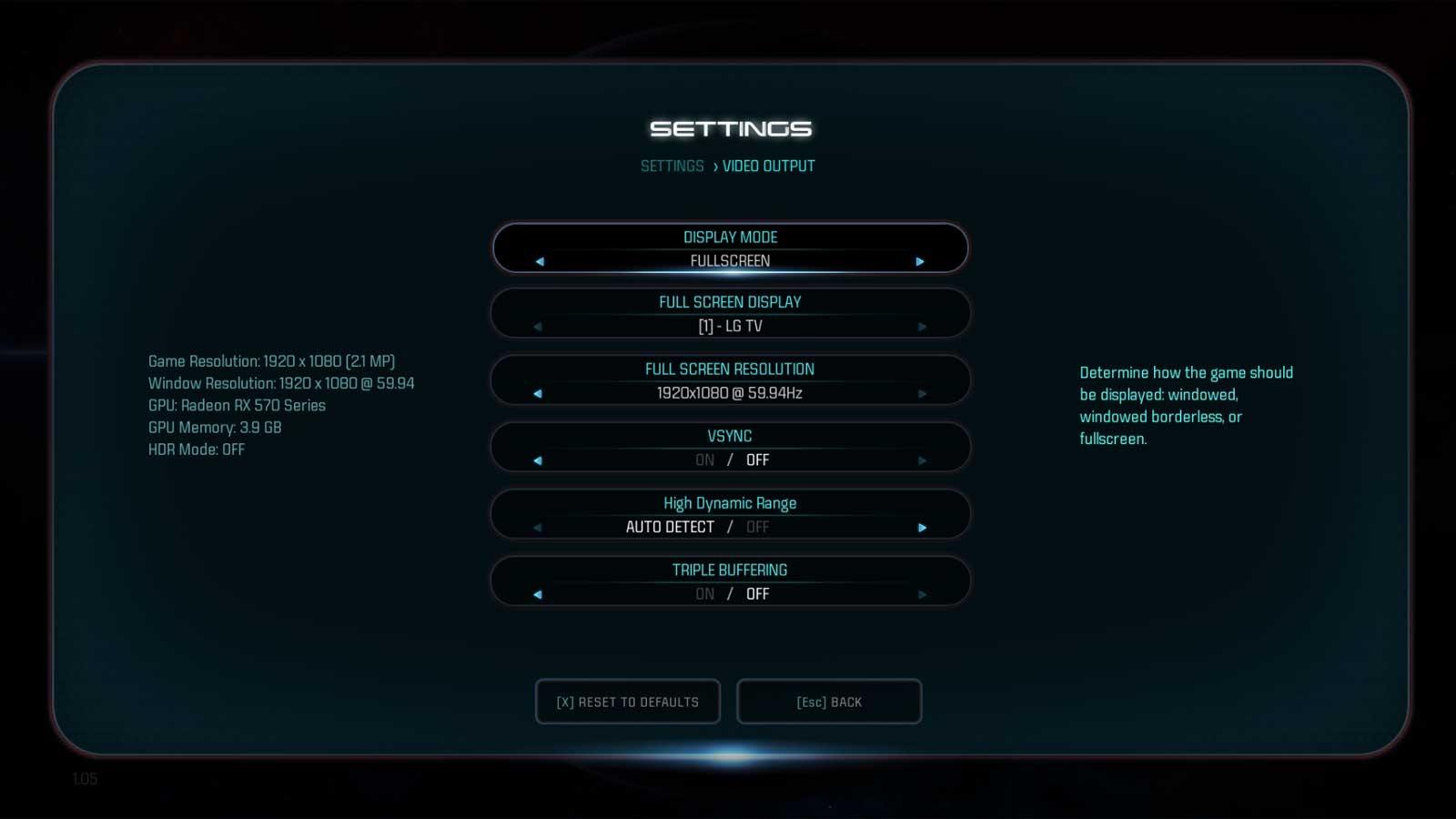 Mass Effect: Andromeda nastavenie testu 1