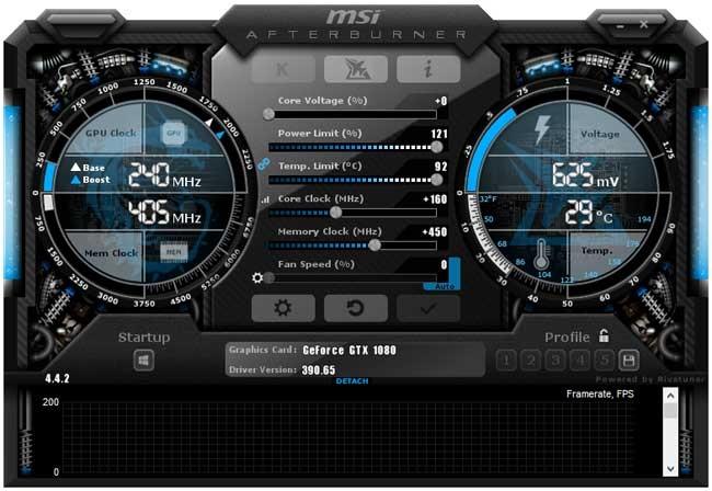 MSI GTX 1080 Sea Hawk EK X Afterburner pretaktovanie